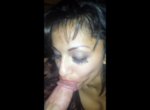 Buzzed Latina mother making a  jism in..