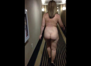 Entirely naked female ambling colon of..