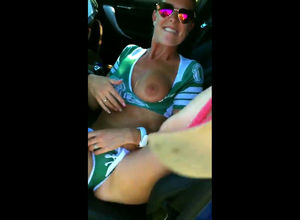 Weird mature female showing globes and..