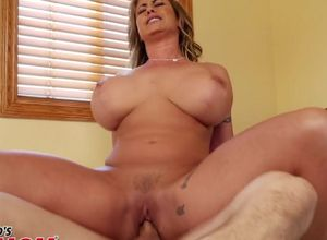 Huge boobed  Eva Notty gulps new jizz