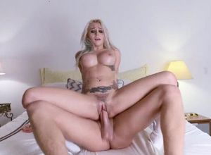 Maiden ash-blonde girl in student..
