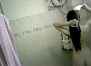Small chinese teenager bathing hidden..
