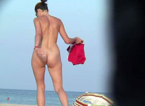 Nudists ladies cooters on beach spy..