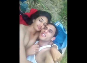 Naked indian duo takes selfie vid in..