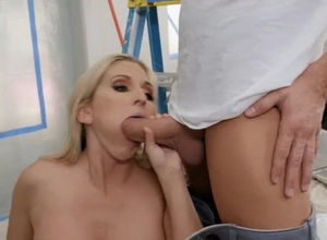 Whorey platinum-blonde with massive..