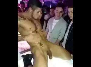 Masculine Striptease in  euro faggot..