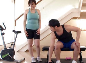 Asian Gym Tart Has Meaty Bra-stuffers..