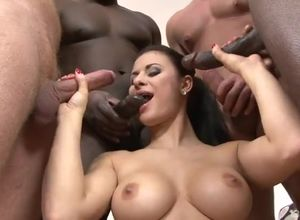 Busty sex industry star Billie gets..