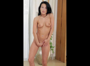Sexy, black-haired vixen unwraps down..