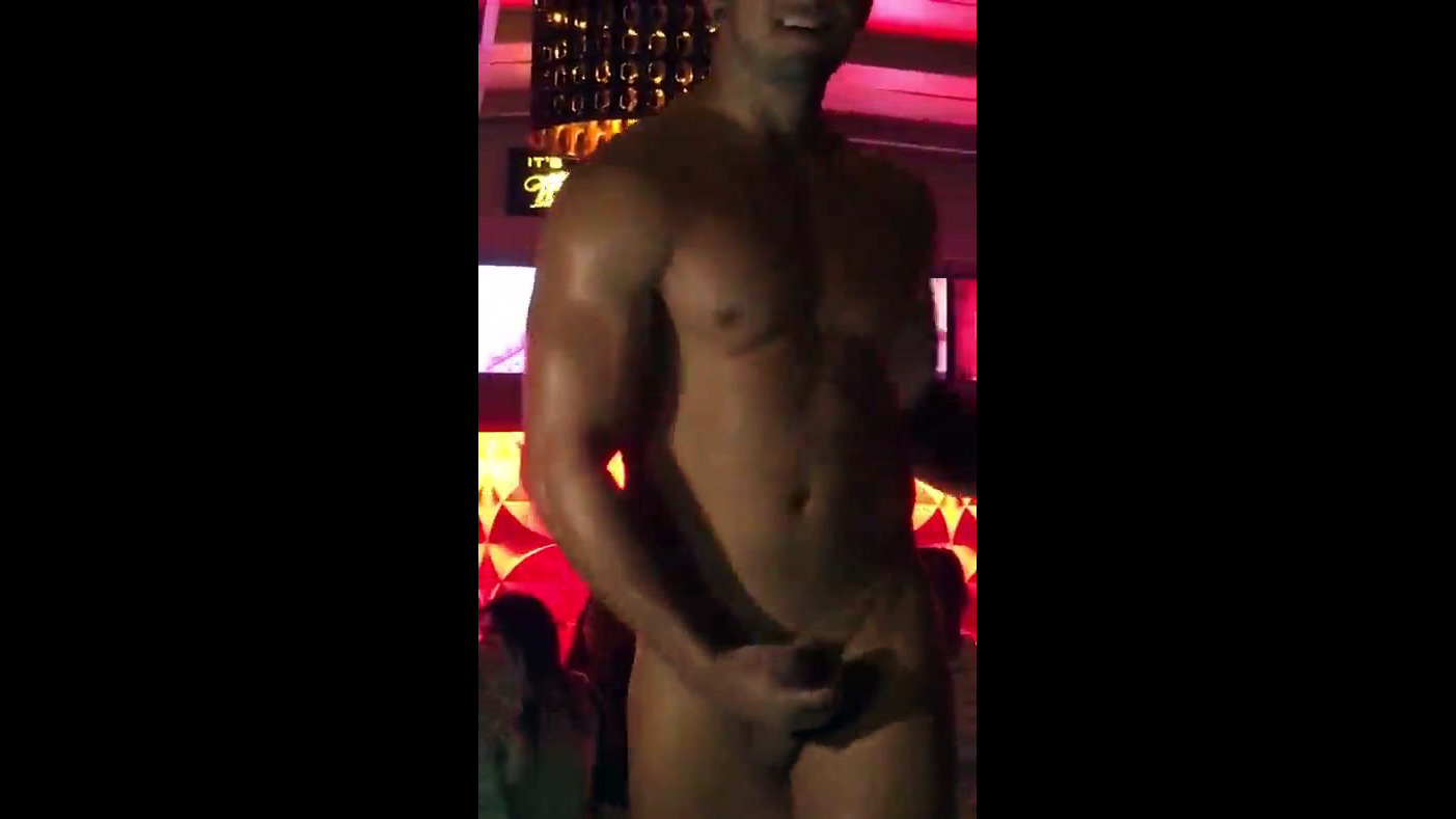 Masculine stripper  shaft during night..